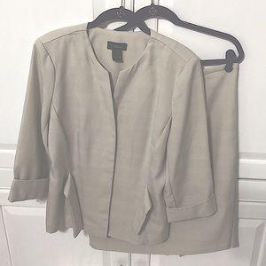T. Milano Stone & White Plaid Suit